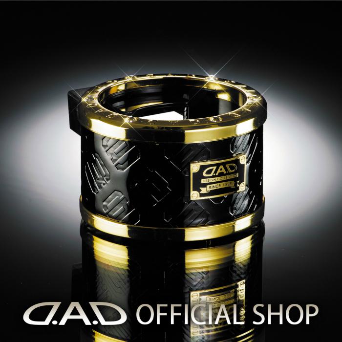 D.A.D LUXURY ドリンクホルダー タイプ モノグラムレザーエナメル ブラック/ゴールド GARSON ギャルソン DAD 4560318720756
