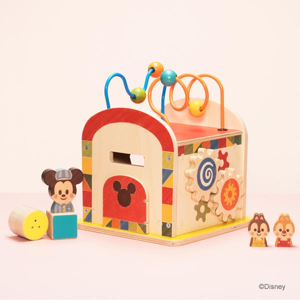Disney KIDEA ディズニー キディア KIDEA BUSY BOX ミッキー&フレンズ ( キデア 積み木 つみき 積木 木のおもちゃ 木製玩具 ギフト 出産祝い プレゼント 誕生日 おしゃれ ディズニー ベビー キッズ 赤ちゃん 1歳 1歳半 2歳 3歳 指先 知育 )
