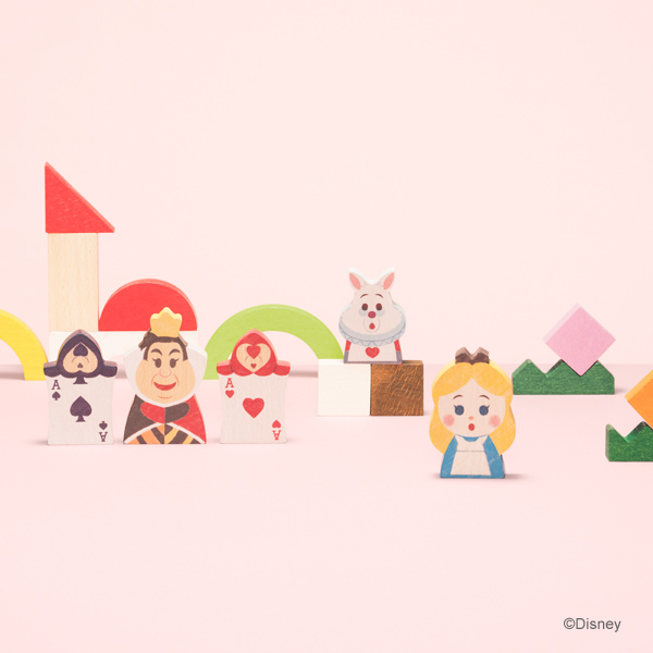 Disney|KIDEA ディズニー キディア KIDEA&BLOCK 不思議の国の アリス ( クリスマス キデア 積み木 セット つみき 積木 木のおもちゃ 木製玩具 知育玩具 ギフト 出産祝い 誕生日 プレゼント おしゃれ インテリア ディズニー ベビー キッズ 1歳 1歳半 2歳 3歳 )