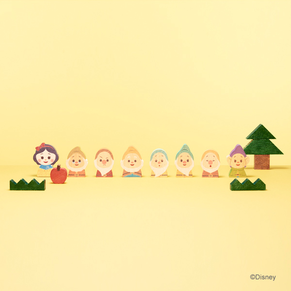 Disney | KIDEA ディズニーキディア KIDEABLOCK 白雪姫 | キデア 木のおもちゃ ギフト 出産祝い 誕生日 プレゼント おしゃれ インテリア ベビー 赤ちゃん ベビーグッズ キッズ きっず 木製玩具 積み木 つみき ごっこ遊び