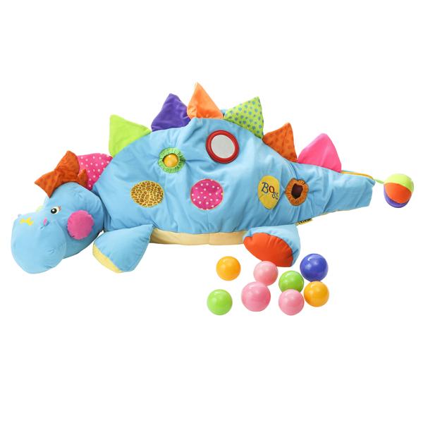 K's Kids ケーズキッズ ボール ザウルス | クリスマス プレゼント ギフト ボールプール 恐竜 布 布製 おもちゃ 6ヶ月 0歳 子ども キッズ 赤ちゃん ベビー 男の子 女の子 かわいい カラフル ピンク ブルー プレゼント ギフト