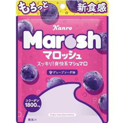 テレビで話題 カンロ マロッシュ〈グレープソーダ味〉50g メーカー公式 6袋入