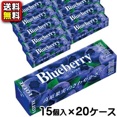 【送料無料】【まとめ買い】【ロッテ】100円 ブルーベリーガム9枚入 15個×20ケース