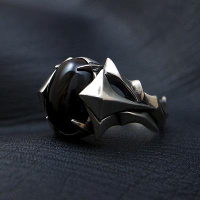 送料無料 オニキス リング メンズ シルバー 指輪 WISH -color of wish-D.four・ディーフォー DF-035OX 971292