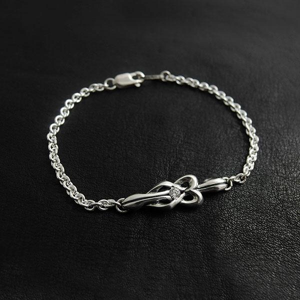 【送料無料】 誕生石 Knot 結び 絆 つながり×シルバーブレスレットDAgDART・ダグダート DB-188(メンズ)  971292