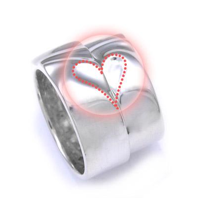 ペアリング リング 刻印 ペア 名入れ シルバー ハート 指輪 幅広 シンプル ペアアクセサリー シルバーリング 送料無料 プレゼント 誕生日プレゼント レディース メンズ クリスマス DAgDART ダグダート love proof ペア価格 DR-182 DR-183 971292
