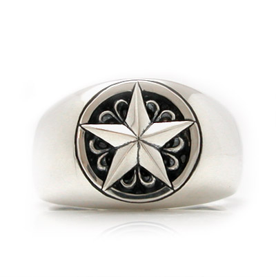 【送料無料】[ONE STAR]スターモチーフシルバーリング/シルバー指輪 DAgDART DR-303  971292
