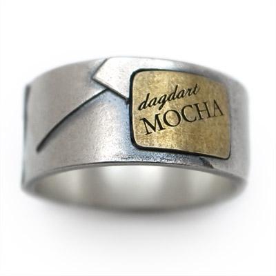 【送料無料】[dagdart MOCHA] BRASS×Silver925 真鍮シルバーリング DAgDART・ダグダート DR-332  971292