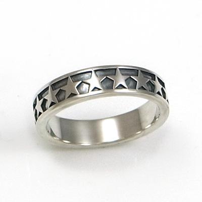 星(スター)×シルバーリング/指輪(メンズ)DAgDART/ダグダート DR-352 971292