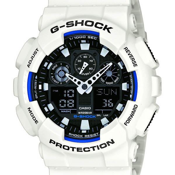 【クーポン利用で10%OFF】正規品 GA-100B-7AJF CASIO  カシオ G-SHOCK 白 ジーショック メンズ腕時計  アスレジャー