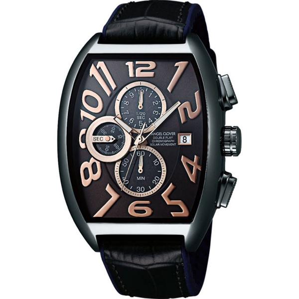 【クーポン利用で10%OFF】ダブルプレイ ソーラー DPS38GY-BK Angel Clover エンジェルクローバー メンズ 腕時計 国内正規品 送料無料