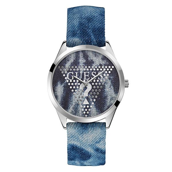 【クーポン利用で10%OFF】ブルー 青 W1144L1 GUESS ゲス レディース 腕時計 国内正規品 送料無料