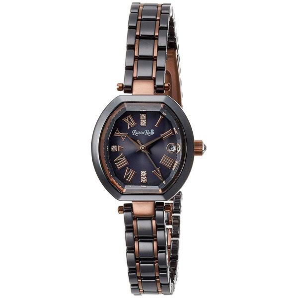 【クーポン利用で10%OFF】ブラック 黒文字盤 R308BRBK Rubin Rosa ルビンローザ レディース 腕時計 国内正規品 送料無料