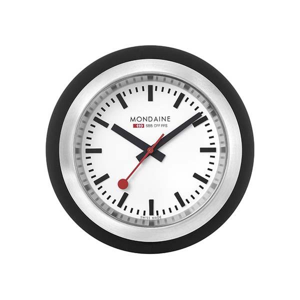 【クーポン利用で10%OFF】デスククロック グローブ 黒 A660.30335.16SBB MONDAINE モンディーン スイス国鉄時計 置き時計 国内正規品 送料無料