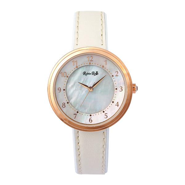 【クーポン利用で10%OFF】ホワイトシェル文字盤 R060PWHWH Rubin Rosa ルビンローザ レディース 腕時計 国内正規品  ブランド:腕時計 Chronostaff DAH DAH