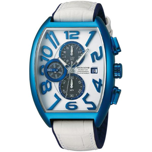 【クーポン利用で10%OFF】ダブルプレイソーラー 白 青 DPS38BNV-WH Angel Clover エンジェルクローバー メンズ 腕時計 国内正規品 送料無料