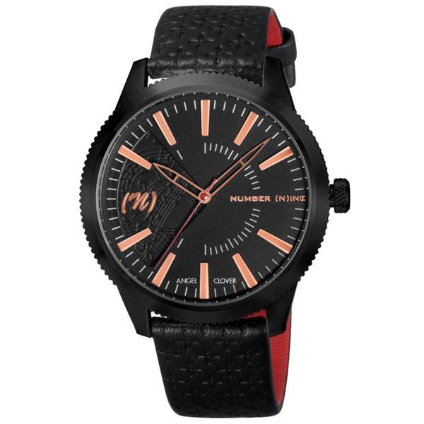 【クーポン利用で10%OFF】ナンバーナイン コラボモデル 黒 金 赤 NN42PG-BK Angel Clover エンジェルクローバー メンズ 腕時計 国内正規品 送料無料