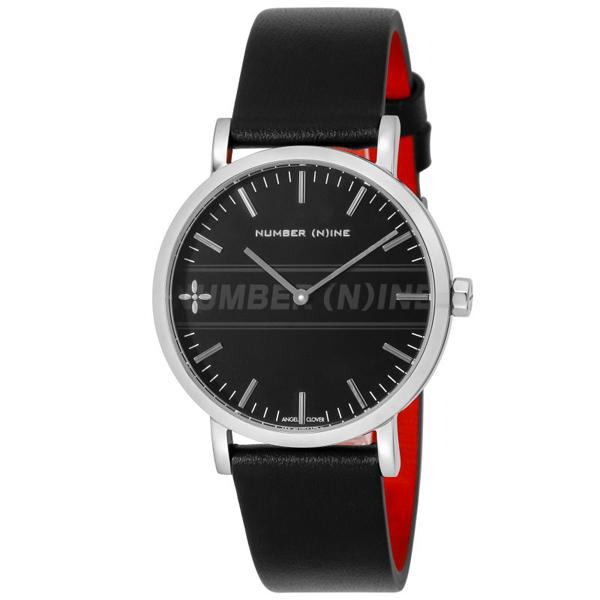 【クーポン利用で10%OFF】ナンバーナイン コラボモデル 黒 銀 NNR40SBK-BK Angel Clover エンジェルクローバー メンズ 腕時計 国内正規品 送料無料