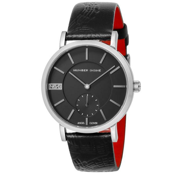 【クーポン利用で10%OFF】ナンバーナイン コラボモデル 黒 銀 NNS40SBK-BK Angel Clover エンジェルクローバー メンズ 腕時計 国内正規品 送料無料