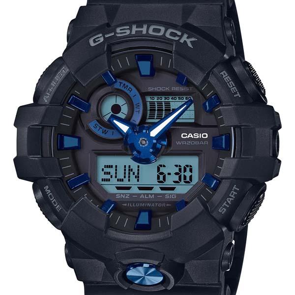 【エントリーP19倍+クーポン10%OFF】Garish ガリッシュ カラー 青ブルー GA-710B-1A2JF G-SHOCK Gショック ジーショック カシオ CASIO メンズ 腕時計 国内正規品