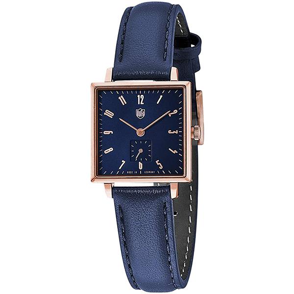 DUFA ドゥッファ 実物 数量は多 ネイビー グロピウススクエア ドイツ製 DF-7025-02 レディース 腕時計 国内正規品 送料無料 クーポン利用で2000円OFF