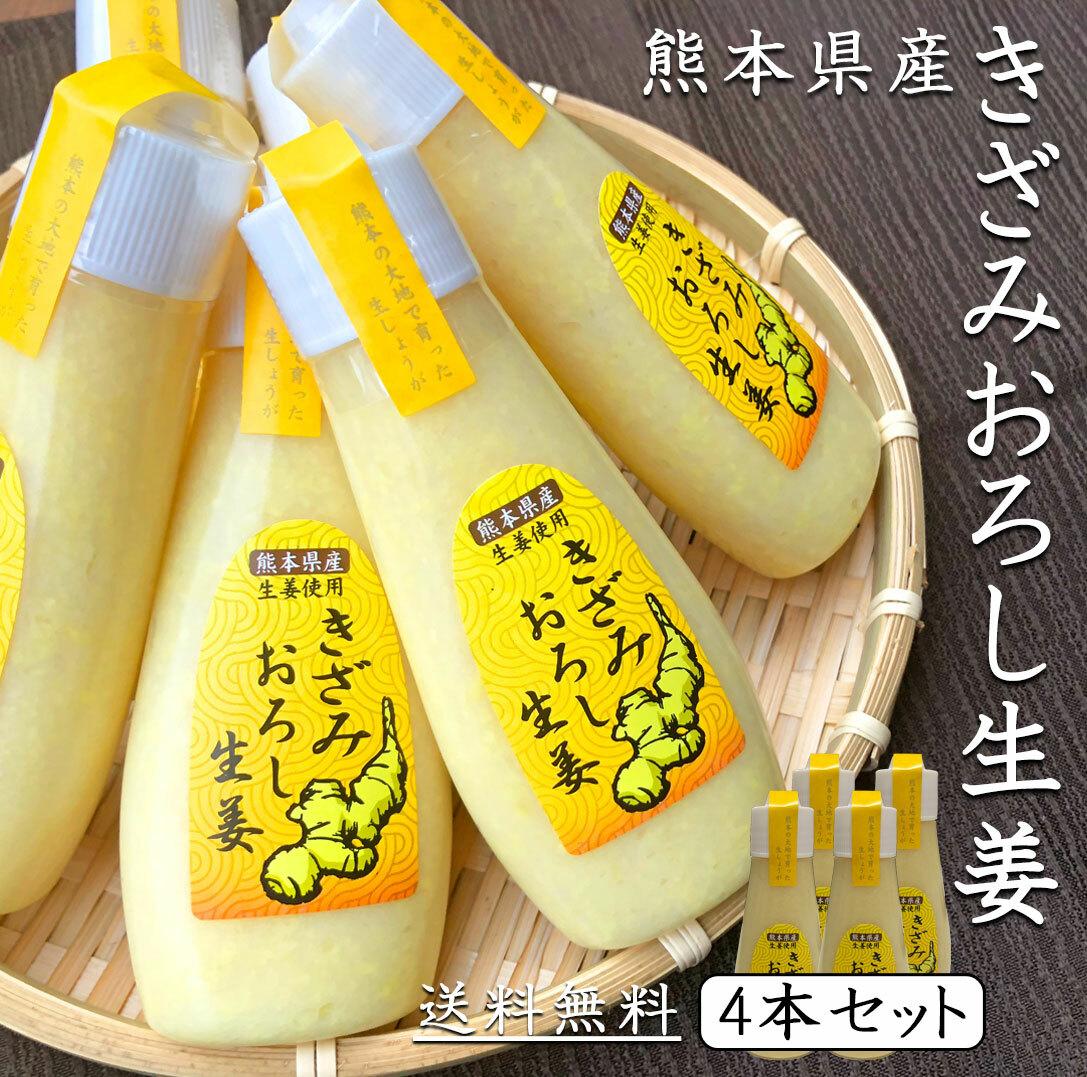 【九州・熊本県】で育てられた、厳選したしょうがを原料とし、添加物を最低限に抑え生姜の味を楽しんでもらえるよう刻んで粒粒感を残しました。使いやすいチューブタイプです。 きざみ おろし生姜 100g × 4本 お買得 セット《 送料無料 》 熊本県産 【 おろししょうが しょうが チューブ 生姜 ショウガ 生しょうがおろし チューブ生姜 チューブ セット 冷え性対策 薬味 調味料 料理 国産 熊本県産 送料無料 】