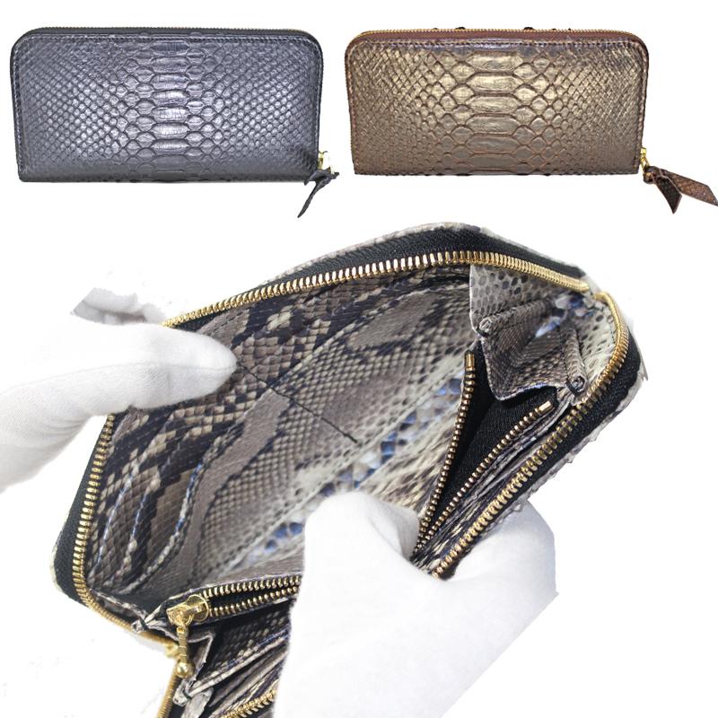 2ae9b9f74bf0 Special(リボーンスペシャル) ラウンドファスナー長財布(蛇革)トライアングル無双 パイソン ブロア Re-Bone iphone修理パネル  【正規店】