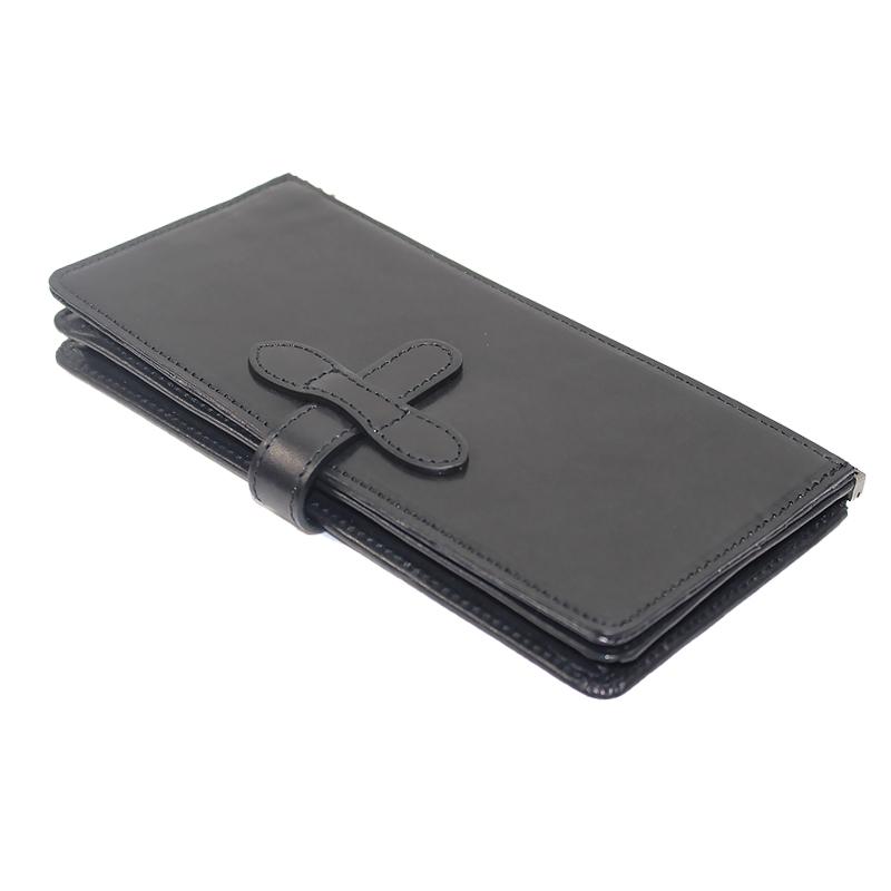 長財布(牛革)カスタマイズ可能でシェアできる財布◆サドルブラック(サドルレザー)◇Re-Bone Wallet/リボーン・ウォレット
