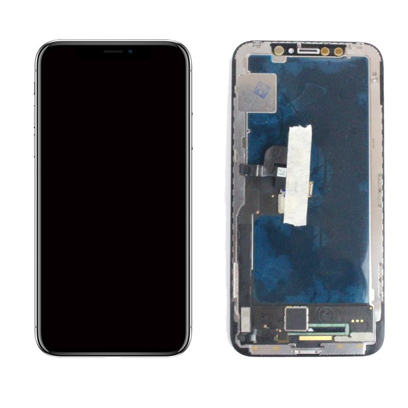 【iPhoneX互換品】フロントパネル(液晶・ガラスセット) ブラック 黒【スマホ修理部品】