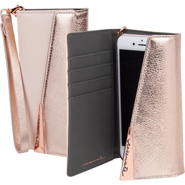 iPhone8 Plus 7 Plus 6s Plus 6 Plus 手帳型ケース Case-Mate Wristlets Folio-Rose Gold