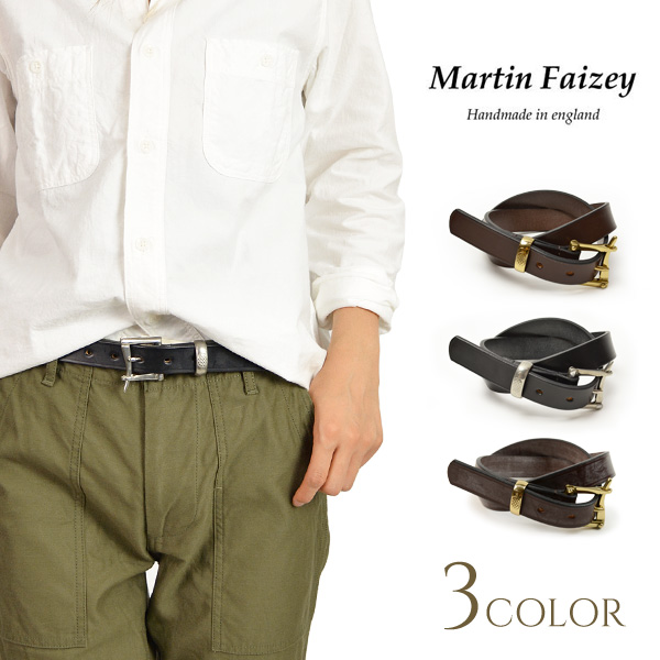 【秋おでかけ!5%OFFクーポン対象】MARTIN FAIZEY (マーティンフェイジー) 1.0インチ(25mm)クイックリリースベルト レザーベルト / 1.0 INCH QUICK RELEASE BELT