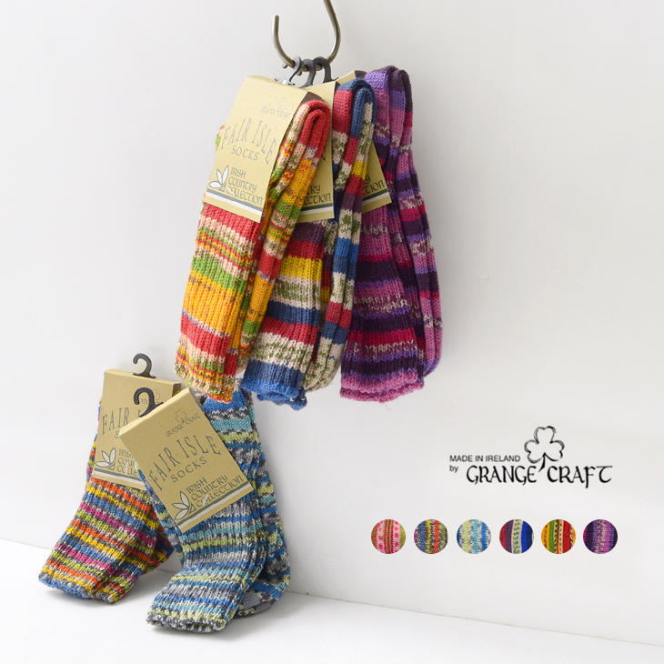 1c07e8773a259 GRANGE CRAFT (グランジェクラフト) Fair Isle wool socks / socks / men gap Dis ...