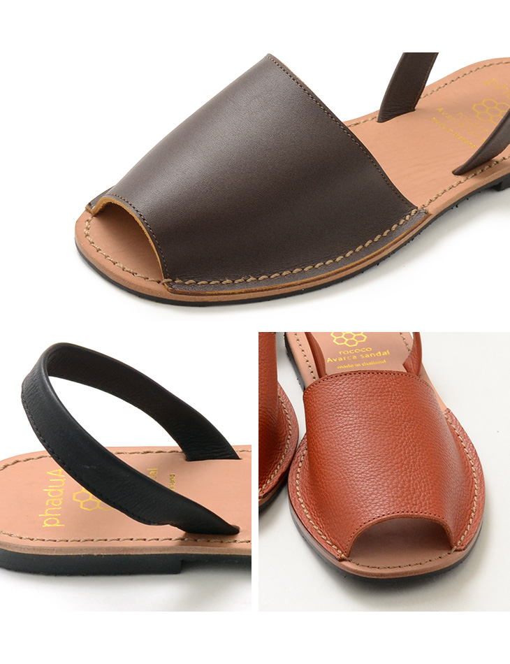 outlet store arriving good selling phaduA (Padua) ABBA Luke shoes / leather sandals / opening toe / men /  Lady's