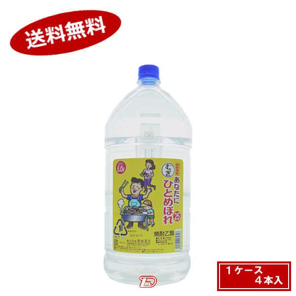【送料無料1ケース】あなたにひとめぼれ 麦 25度 5L 4本入★北海道、沖縄のみ別途送料が必要となります