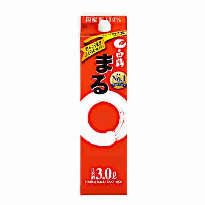 【送料無料2ケース】製造年2017年12月 白鶴 まる 白鶴酒造 3L(3000ml) パック 4本×2★北海道、沖縄のみ別途送料が必要となります