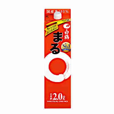【送料無料2ケース】白鶴 まる 白鶴酒造 2L(2000ml) パック 6本×2★北海道、沖縄のみ別途送料が必要となります