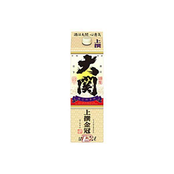 【送料無料2ケース】上撰 金冠 はこのさけ 大関 2L(2000ml) パック 6本×2★北海道、沖縄のみ別途送料が必要となります