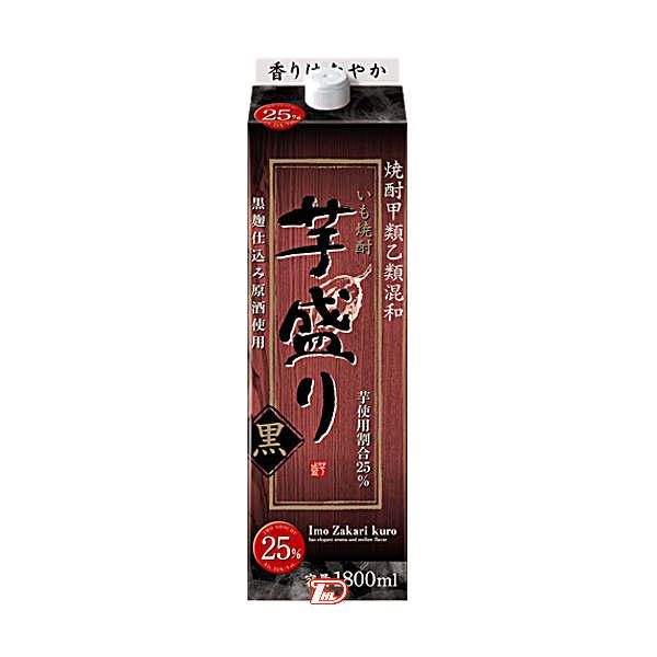 【送料無料2ケース】芋盛り 黒 〈芋〉 25度 合同酒精 1.8L(1800ml) パック 6本入×2★北海道、沖縄のみ別途送料が必要となります