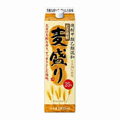 【送料無料2ケース】麦盛り 〈麦〉 25度 合同酒精 1.8L(1800ml) パック 12本入★北海道、沖縄のみ別途送料が必要となります