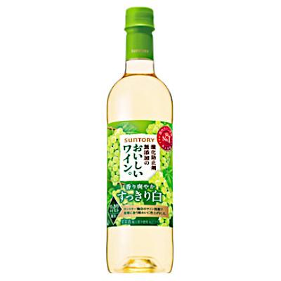 【送料無料1ケース】酸化防止剤無添加のおいしいワイン 白 サントリー 720ml ペット 12本入★北海道、沖縄のみ別途送料が必要となります