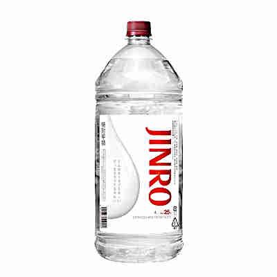 【送料無料1ケース】JINRO ジンロ 25° 眞露 4L 4本入★北海道、沖縄のみ別途送料が必要となります