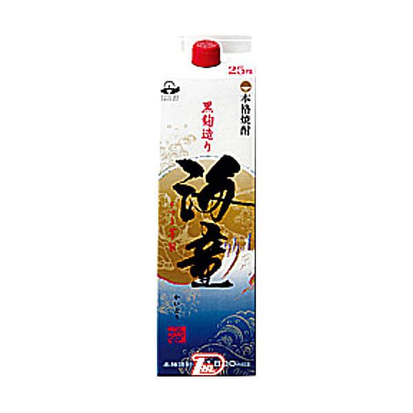 【送料無料2ケース】海童 〈芋〉 25度 濱田酒造 1.8L(1800ml) パック 6本×2★北海道、沖縄のみ別途送料が必要となります