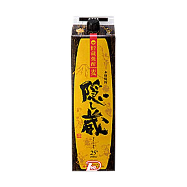 【送料無料2ケース】隠し蔵 〈麦〉 25度 濱田酒造 1.8L(1800ml) パック 6本入×2★北海道、沖縄のみ別途送料が必要となります