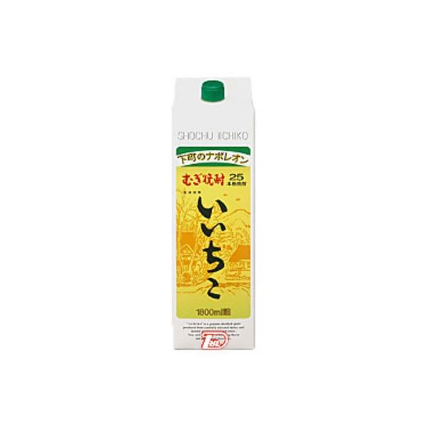 【送料無料2ケース】いいちこ 麦 25度 三和酒類 1.8L(1800ml) パック 12本入
