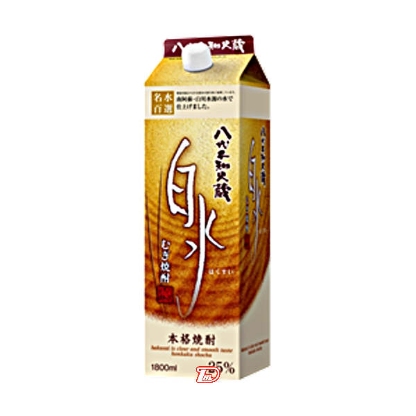 【送料無料2ケース】白水 〈麦〉 25度 メルシャン 1.8L(1800ml) パック 6本入×2★北海道、沖縄のみ別途送料が必要となります