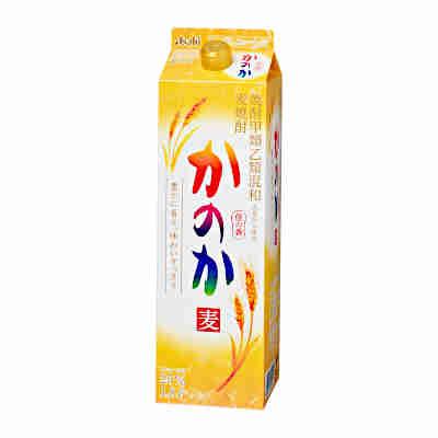 【送料無料2ケース】かのか 〈麦〉 25度 アサヒ 1.8L(1800ml) パック 12本入★北海道、沖縄のみ別途送料が必要となります