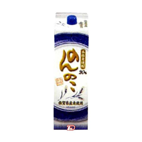 【送料無料2ケース】のんのこ 〈麦〉 20度 宗政酒造 1.8L(1800ml) パック 12本入★北海道、沖縄のみ別途送料が必要となります