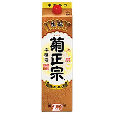 【2ケース】本醸造 上撰 菊正宗酒造 1.8L(1800ml) パック 6本×2