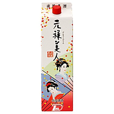 1ケース 元禄美人 合同酒精 1.8L 1800ml パック 値引き 6本入 100%品質保証!
