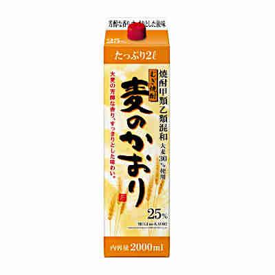 【2ケース】麦のかおり 麦 25度 合同酒精 2.0L パック 6本×2